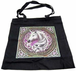 Hippy Bag~Pagan Hippy Pink Celtic Unicorn Tote Shopper Bag~Fair trade by Folio Gothic Hippy 95871
